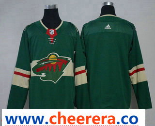 Men's Minnesota Wild Blank Green 2017-2018 Hockey Stitched NHL Jersey