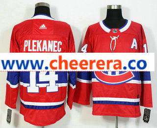 Men's Montreal Canadiens #14 Tomas Plekanec Red 2017-2018 Hockey Stitched NHL Jersey