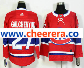 Men's Montreal Canadiens #27 Alex Galchenyuk Red 2017-2018 Hockey Stitched NHL Jersey