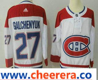 Men's Montreal Canadiens #27 Alex Galchenyuk White 2017-2018 Hockey Stitched NHL Jersey