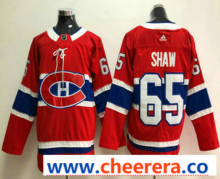 Men's Montreal Canadiens #65 Andrew Shaw Red 2017-2018 Hockey Stitched NHL Jersey