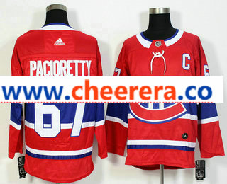 Men's Montreal Canadiens #67 Max Pacioretty Red 2017-2018 Hockey Stitched NHL Jersey