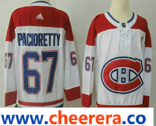 Men's Montreal Canadiens #67 Max Pacioretty White 2017-2018 Hockey Stitched NHL Jersey