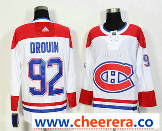Men's Montreal Canadiens #92 Jonathan Drouin White 2017-2018 Hockey Stitched NHL Jersey