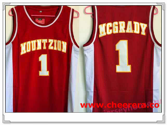 Men's Mount Zion Christian Academy High School #1 Tracy McGrady Red Soul Swingman Basketball Jersey
