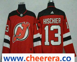 Men's New Jersey Devils #13 Nico Hischier Red 2017-2018 Hockey Stitched NHL Jersey