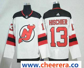 Men's New Jersey Devils #13 Nico Hischier White 2017-2018 Hockey Stitched NHL Jersey