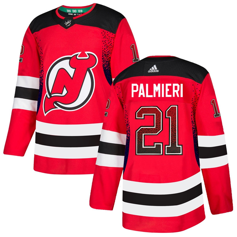Men's New Jersey Devils #21 Kyle Palmieri Red Drift Fashion Adidas Jersey