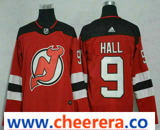 Men's New Jersey Devils #9 Taylor Hall Red 2017-2018 Hockey Stitched NHL Jersey