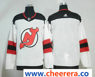 Men's New Jersey Devils Blank White 2017-2018 Hockey Stitched NHL Jersey