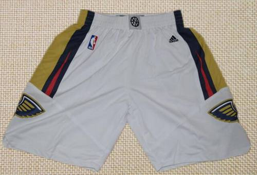 Men's New Orleans Pelicans White Basketball Shorts