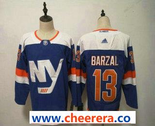 Men's New York Islanders #13 Mathew Barzal New Blue Home 2019 Hockey Stitched NHL Jersey