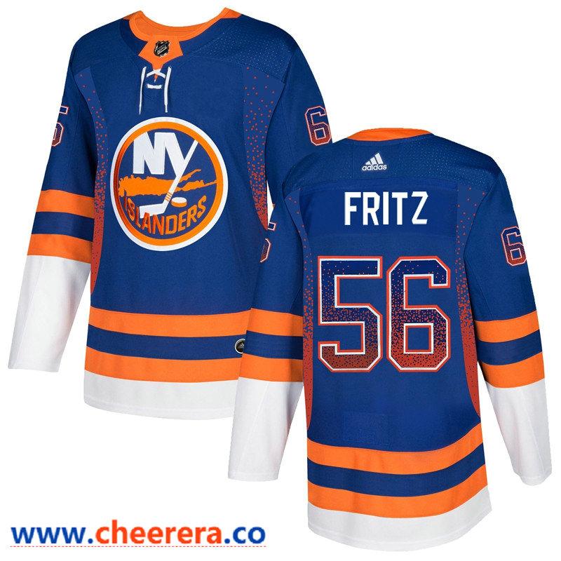 Men's New York Islanders #56 Tanner Fritz Royal Drift Fashion Adidas Jersey