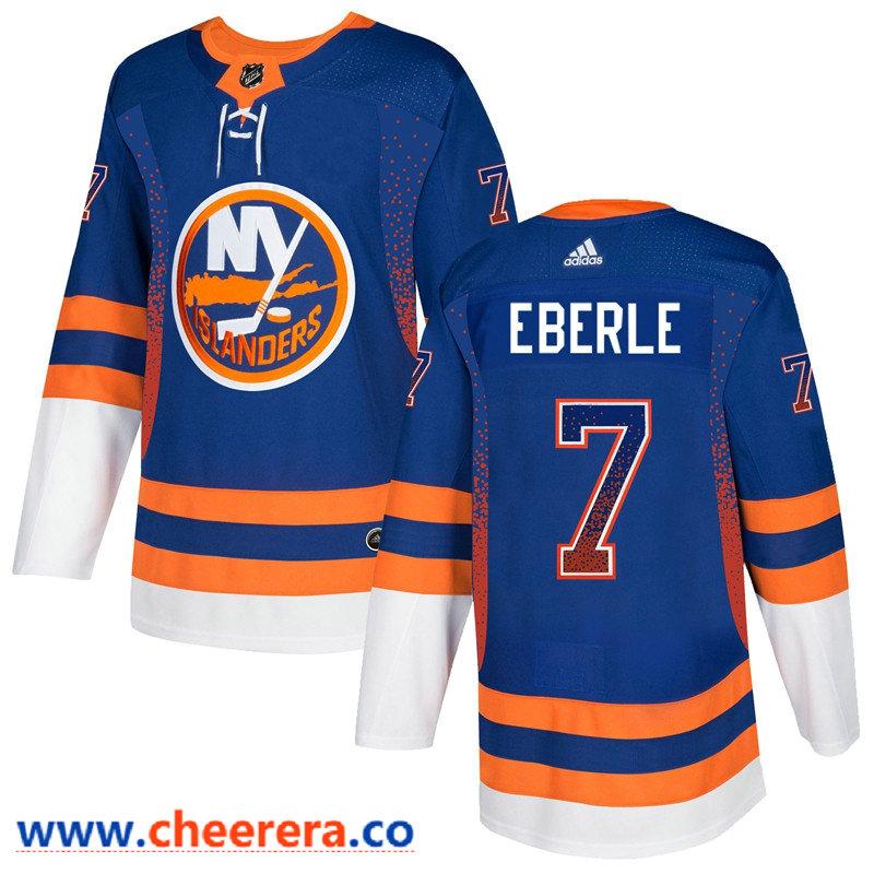 Men's New York Islanders #7 Jordan Eberle Royal Drift Fashion Adidas Jersey