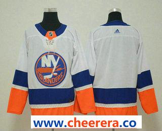 Men's New York Islanders Blank White 2017-2018 Hockey Stitched NHL Jersey