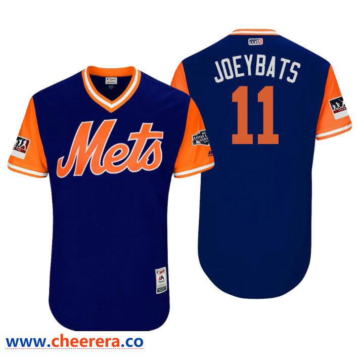 Men's New York Mets Little League Classic Patch Jose Bautista #11 Royal 2018 LLWS Players Weekend Joeybats Jersey