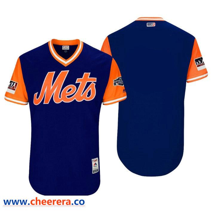 Men's New York Mets Majestic Royal Orange 2018 Players' Weekend Team Jersey