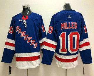 Men's New York Rangers #10 J. T. Miller Royal Blue Home 2017-2018 Hockey Stitched NHL Jersey
