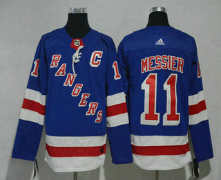 Men's New York Rangers #11 Mark Messier Royal Blue Home 2017-2018 Hockey Stitched NHL Jersey