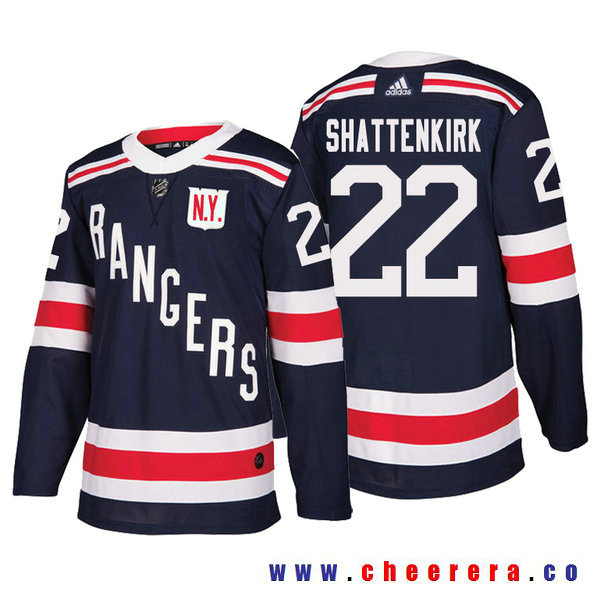 Men's New York Rangers #22 Kevin Shattenkirk Navy Authentic 2018 Winter Classic Jersey