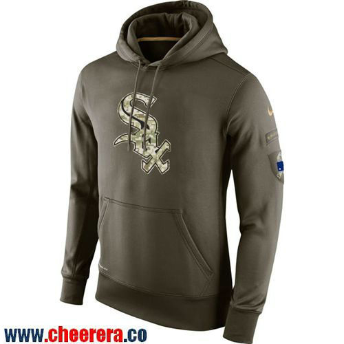 Men's Nike Chicago White Sox Olive Green Salute To Service MLB KO Performance Hoodie