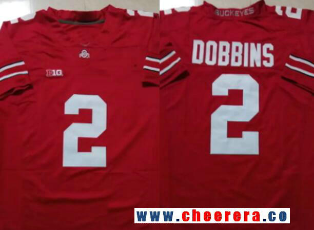 Men's Ohio State Buckeyes #2 J. K. Dobbins Red Limited College Football Stitched Nike NCAA Jersey