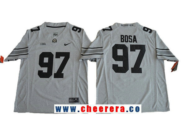 Men's Ohio State Buckeyes #97 Joey Bosa Gridiron Gray II Limited College Football Stitched Nike NCAA Jersey