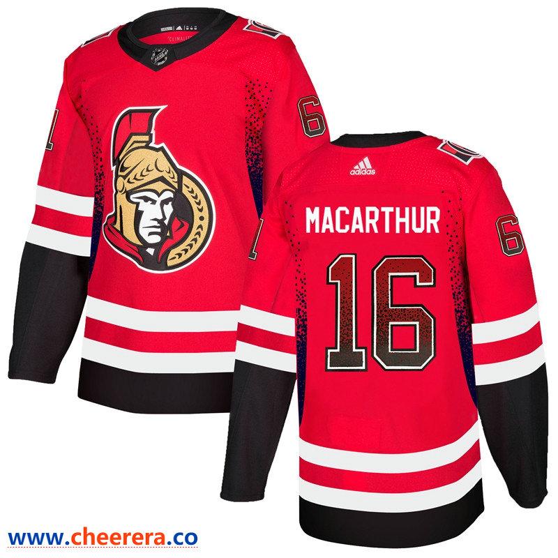 Men's Ottawa Senators #16 Clarke MacArthur Red Drift Fashion Adidas Jersey