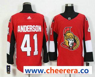 Men's Ottawa Senators #41 Craig Anderson Red Home 2017-2018 Hockey Stitched NHL Jersey