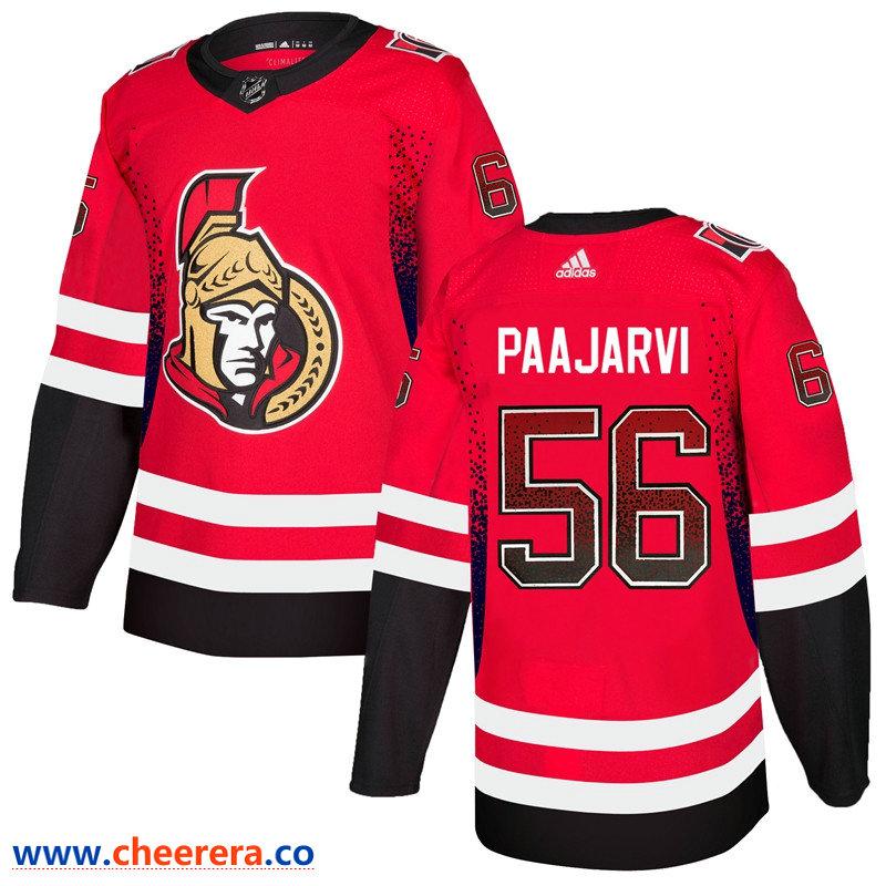 Men's Ottawa Senators #56 Magnus Paajarvi Red Drift Fashion Adidas Jersey