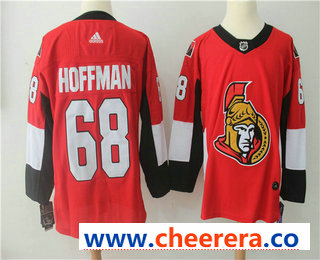 Men's Ottawa Senators #68 Mike Hoffman Red Home 2017-2018 Hockey Stitched NHL Jersey
