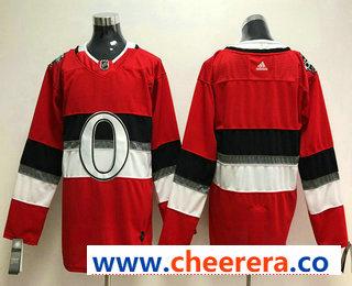 Men's Ottawa Senators Blank Red 2018 Winter Classic Stitched NHL Hockey Jersey