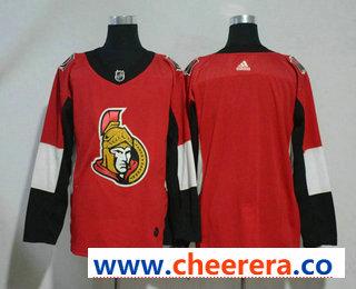 Men's Ottawa Senators Blank Red Home 2017-2018 Hockey Stitched NHL Jersey