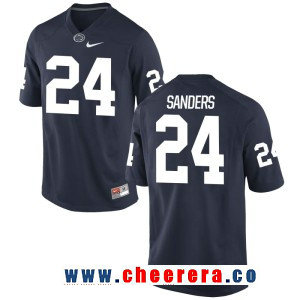 Men's Penn State Nittany Lions #24 Miles Sanders Navy Blue College Football Stitched Nike NCAA Jersey
