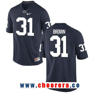 Men's Penn State Nittany Lions #31 Cameron Brown Navy Blue College Football Stitched Nike NCAA Jersey