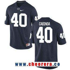 Men's Penn State Nittany Lions #40 Jason Cabinda Navy Blue College Football Stitched Nike NCAA Jersey