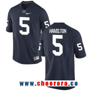 Men's Penn State Nittany Lions #5 DaeSean Hamilton Navy Blue College Football Stitched Nike NCAA Jersey