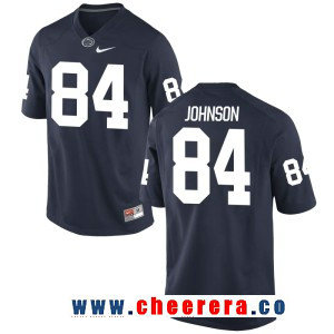 Men's Penn State Nittany Lions #84 Juwan Johnson Navy Blue College Football Stitched Nike NCAA Jersey