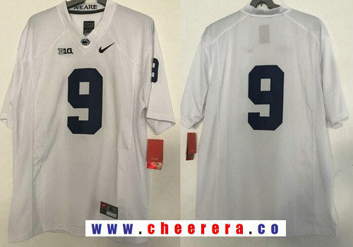 Men's Penn State Nittany Lions #9 Trace McSorley No Name White College Football Stitched Nike NCAA Jersey
