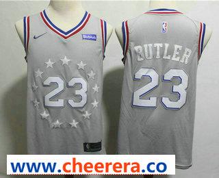Men's Philadelphia 76ers #23 Jimmy Butler Gray 2018-19 City Edition Nike Swingman Stubhub Stitched NBA Jersey
