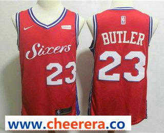 Men's Philadelphia 76ers #23 Jimmy Butler Red 2017-2018 Nike Swingman Stubhub Stitched NBA Jersey