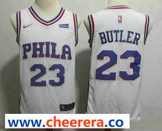 Men's Philadelphia 76ers #23 Jimmy Butler White 2017-2018 Nike Swingman Stubhub Stitched NBA Jersey