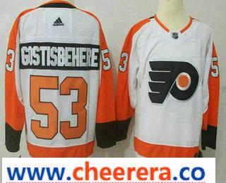 Men's Philadelphia Flyers #53 Shayne Gostisbehere White 2017-2018 Hockey Stitched NHL Jersey