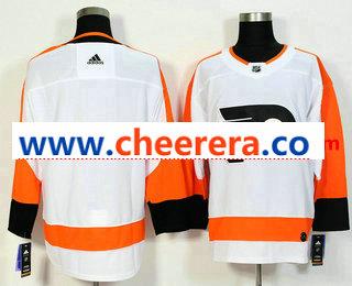 Men's Philadelphia Flyers Blank White 2017-2018 Hockey Stitched NHL Jersey