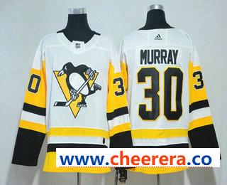 Men's Pittsburgh Penguins #30 Matt Murray White 2017-2018 Hockey Stitched NHL Jersey