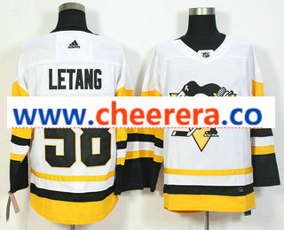 Men's Pittsburgh Penguins #58 Kris Letang White 2017-2018 Hockey Stitched NHL Jersey