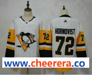 Men's Pittsburgh Penguins #72 Patric Hornqvist White Adidas Stitched NHL Jersey