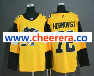 Men's Pittsburgh Penguins #72 Patric Hornqvist Yellow Alternate Adidas Stitched NHL Jersey