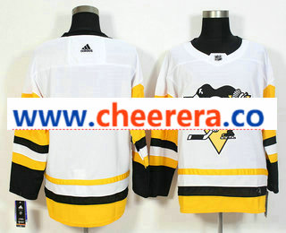 Men's Pittsburgh Penguins Blank White 2017-2018 Hockey Stitched NHL Jersey