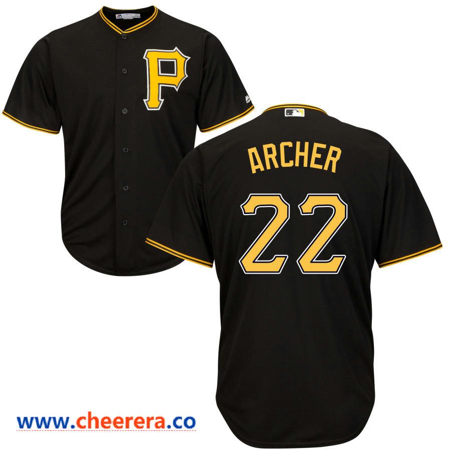 Men's Pittsburgh Pirates #22 Chris Archer Majestic Black Cool Base Jersey